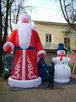 Дед Мороз 5,5 м. и Снеговик 3,2